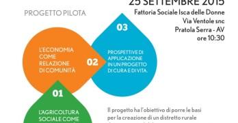 """Venerdì 25/09/15 PRESENTAZIONE DEL PROGETTO PILOTA  """"L'AGRICOLTURA SOCIALE  COME OPPORTUNITA' DI SVILUPPO RURALE SOSTENIBILE """""""