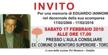 Il PSI Montoro-Solofra ricorda Eduardo Iannone nel decennale della sua scomparsa