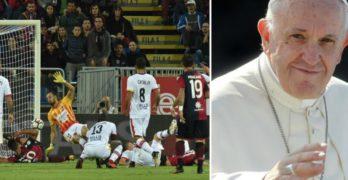Seria A: Benevento-Cagliari rinviata, in città arriva il Papa