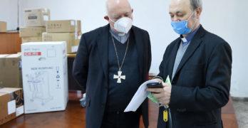 """Salerno,al """"Ruggi"""" arrivano macchinari donati dalla Diocesi tramite la Caritas"""