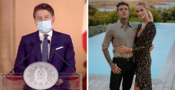 Conte chiede aiuto a Fedez e Chiara Ferragni, dovranno essere loro a convincere i giovani ad indossare la mascherina